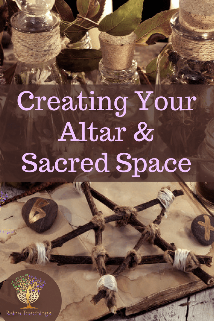 Learn how to set up your own altar & clear sacred space for connecting with spirit or ritual | rainateachings #sacredspace #paganaltar #metaphysical #wicca