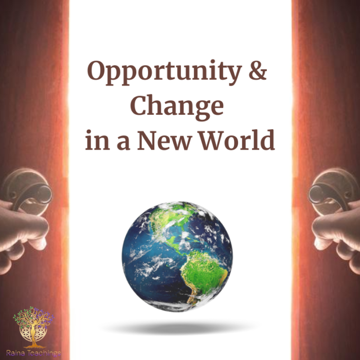 Opportunity & Change in a New World
